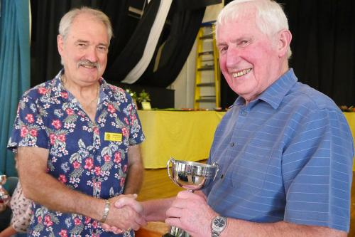 RGHS Show 61 WEB Frank Broome winning the cup he donated in honour of his late wife P1140342 1-9-18